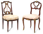 A Louis XV style gilt bronze mounted mahogany side chair <br>Francois Linke<br>circa 1900