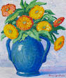 Birger Sandzen (American, 1871-1954) Vase with flowers, 1933 14 x 12in