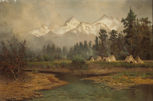 (n/a) Edwin Deakin (American, 1838-1923) Indian country, Tahoe, 1905 16 x 24 1/4in