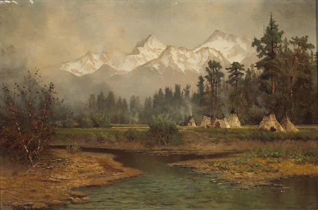 (n/a) Edwin Deakin (American, 1838-1923) Indian country, Tahoe, 1905 16 x 24 1/4in