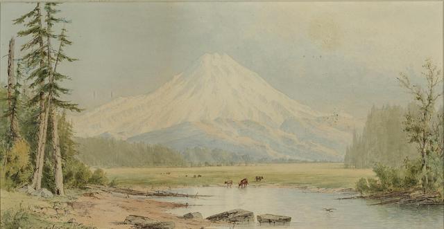 (n/a) Cleveland Rockwell (American, 1837-1907) Mt. Shasta 11 x 20 3/4in
