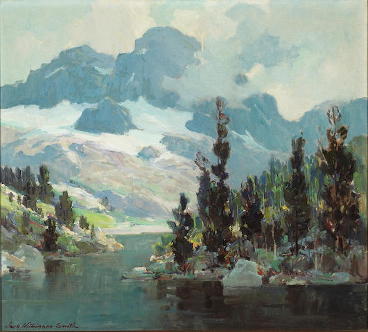 (n/a) Jack Wilkinson Smith (American, 1873-1949) Sierra lake with mountains in the distance 18 x 20in