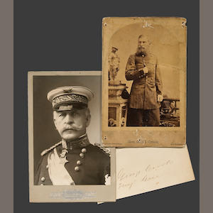 Two cabinet cards: General George Crook and General Nelson A. Miles