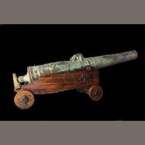 A Dutch bronze cannon