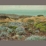 Theodore Wores (1859-1939) Sand dunes of San Francisco, 1911 9 1/4 x 12 1/4in