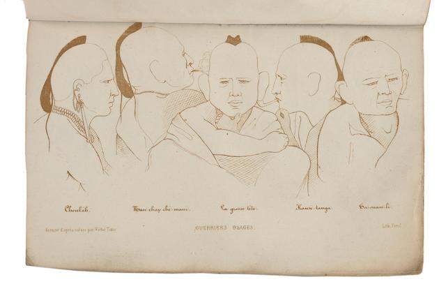 TIXIER, VICTOR. 1815-1885. Voyage aux prairies Osages, Louisiane et Missouri, 1839-40. Clermont-Ferrand: Perol. Paris: Roret, 1844.