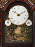 A fine English George III ormolu mounted tortoiseshell six-tune musical bracket clock with automatonsigned Mason, London.