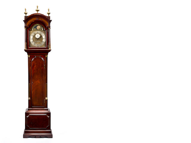 A long case clock, John Barber Stratford, circa 1800