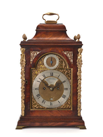 A George III mahogany bracket clockSigned James Berry, Pontefract, mid 18th century