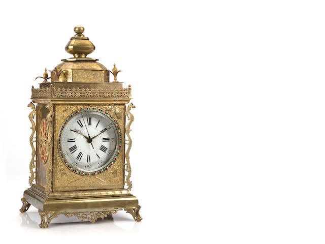 A Chinese market bracket clock