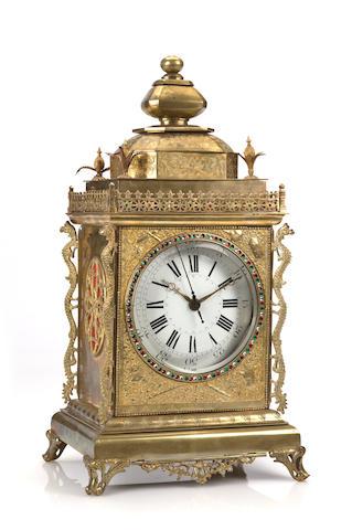 A Chinese market bracket clock