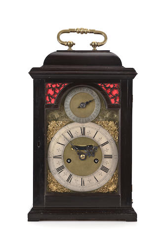 A William and Mary ebony striking and quarter repeating bracket clock.Signed Daniel Quare, London, early 18th century