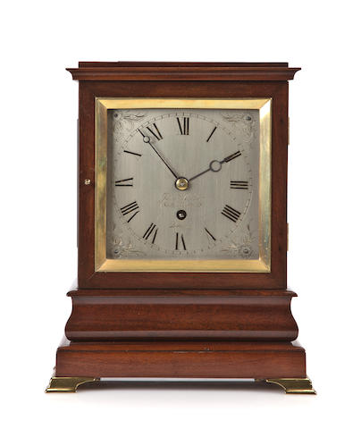 James Walker mahogany mantel timepiece