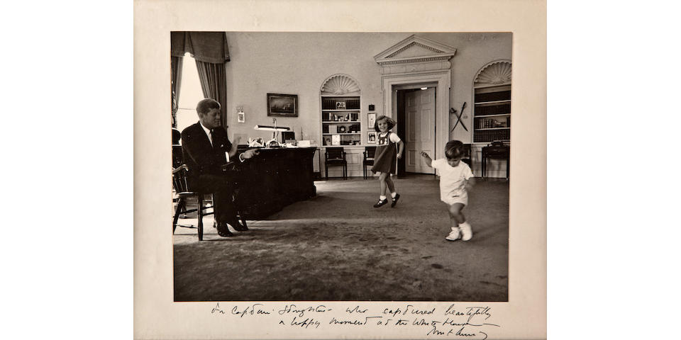 KENNEDY CHILDREN AT THE WHITE HOUSE.