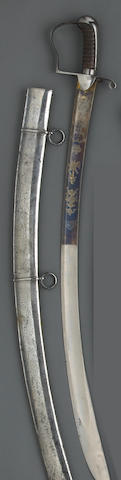 A British Pattern 1796 light cavalry officer's saber by Henry Osborne