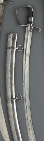 A British Pattern 1796 light cavalry trooper's saber by Wooley & Company
