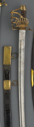 A scarce French Revolutionary Period officer's sword for the 6th Regiment