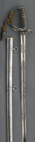 A British Pattern 1821 light cavalry officer's saber for the 13th Hussars