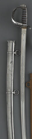 A British Pattern 1822 heavy cavalry officer's sword for the 6th Dragoon Guards