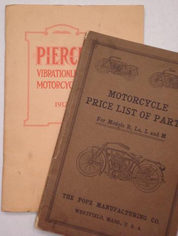 A Pierce 'Vibrationless Motorcycles' 1912 range brochure,