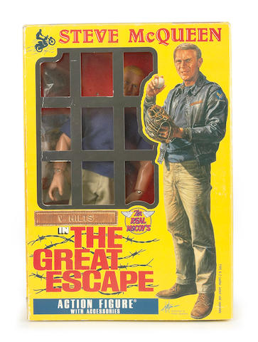 A Steve McQueen action figure from The Great Escape,