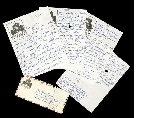 A five page handwritten letter from Steve McQueen,