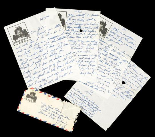 A five page handwritten letter from Steve McQueen,