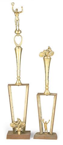 Two Trophies won by Bud Ekins,