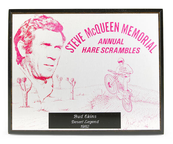 The Steve McQueen Memorial Scramble trophy, 1982,