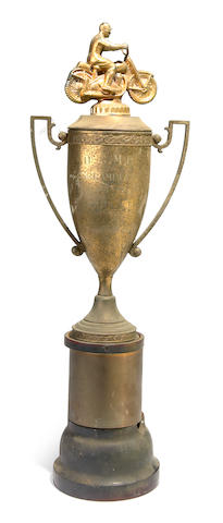 The winning OCMC Scrambles trophy, 11/1952,