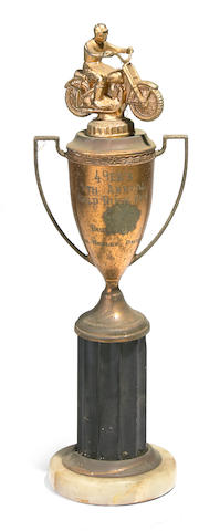 The 49er's 5th Annual Gold Rush Run trophy, 1953,