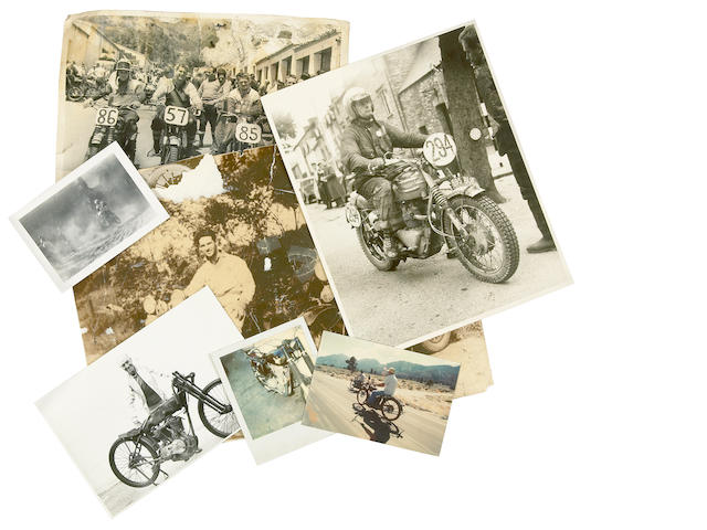 A quantity of motorcycle related photographs,
