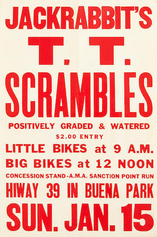 A selection of racing posters,