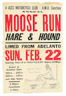 A selection of Hare & Hound racing posters,