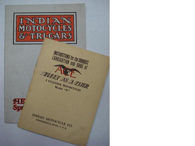 An Indian Motocycles & Tri-cars sales brochure,