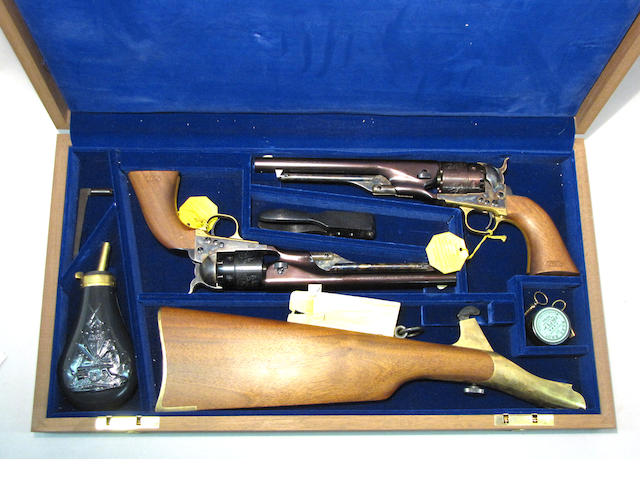 A cased Colt United States Cavalry Commemorative Set