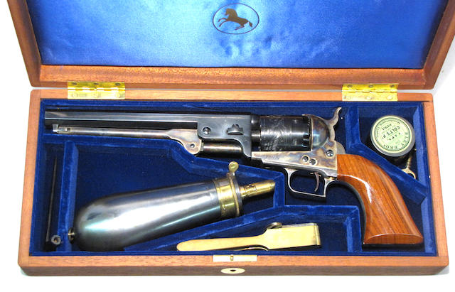 A cased Colt Blackpowder Series Model 1851 Navy squareback percussion revolver