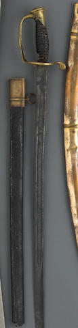 A Confederate foot officer's sword