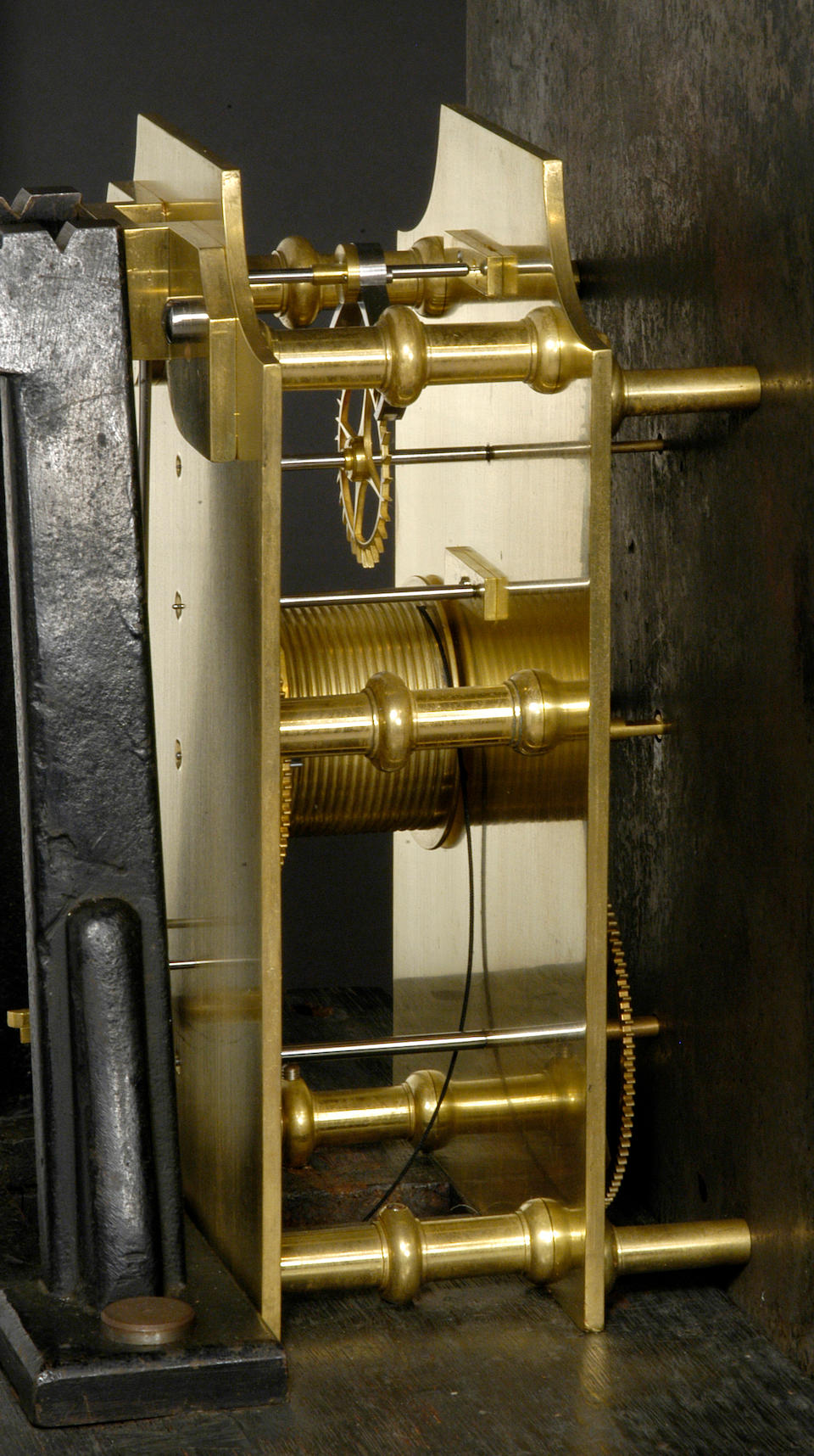 "An unusual English mahogany longcase regulatorsigned on the dial  ""Richard Bridgman, London"", case and movement, circa 1800, the escapement and pendulum, mid 19th century"