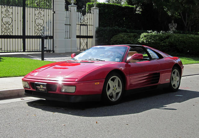 Showing fewer than 21,000 miles from new,1990 Ferrari 348 TS  Chassis no. ZFFFG36A8L0084548