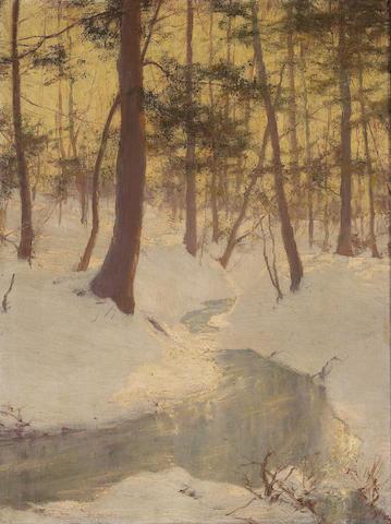W.L. Palmer, Landscape, oil on canvas, P/C, Cinn Ohio, P/C, San Mateo, CA