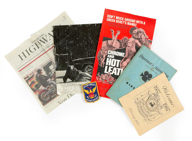A selection of Press and Publicity items concerning Bud Ekins,