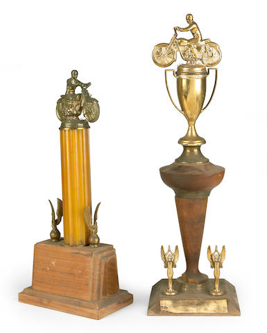 Assorted unmarked trophies,