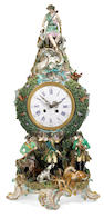 A Meissen porcelain mantel clock <br>late 19th century