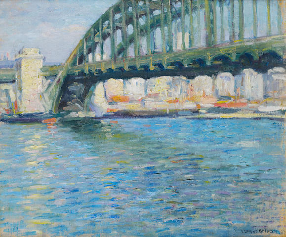 (n/a) Edmund William Greacen (American, 1877-1949) Hell Gate Bridge 19 3/4 x 23 5/8in