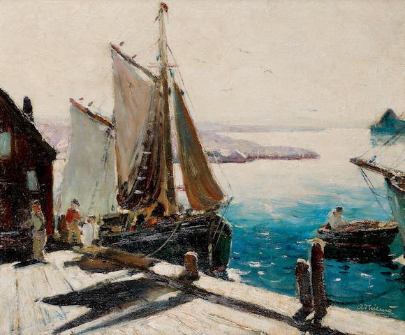 (n/a) Anthony Thieme (American, 1888-1954) In port 20 ¼ x 24in