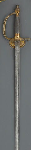 A British Pattern 1796 infantry officer's sword