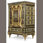A Napoleon III gilt bronze mounted and boulle decorated cabinet