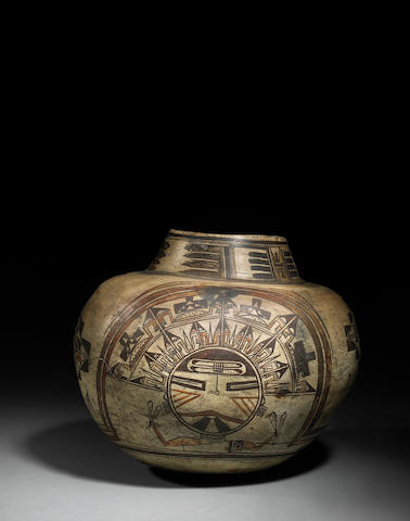 An exceptional Hopi polychrome jar
