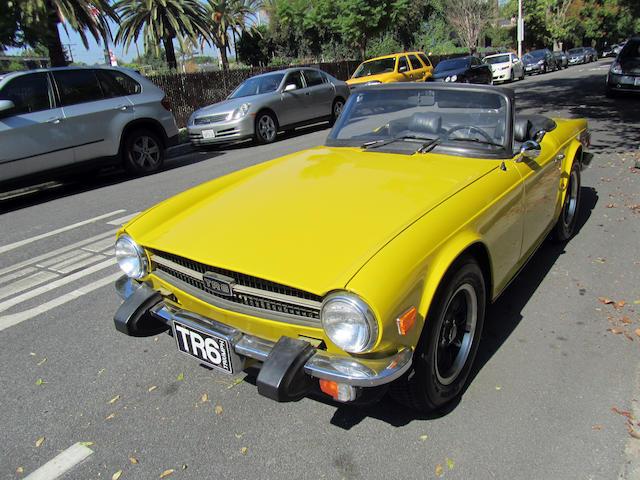 1974 Triumph TR6  Chassis no. T25483 Engine no. CF26582UE